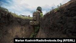 Українські військові на позиціях на Донеччині, фото 11 квітня 2017 року