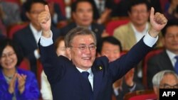 Новый президент Южной Кореи Мун Чжэ Ин.