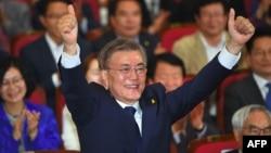 Presidenti i ri i Koresë së Jugut, Moon Jae-in.
