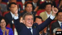 South Korea's new President Moon Jae-in asked for Russian President Vladimir Putin's help in dealing with North Korea.
