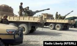 بخشی از تجهیزات آمریکایی هدیه شده به ارتش افغانستان در فوریه ۲۰۱۵ در قندهار
