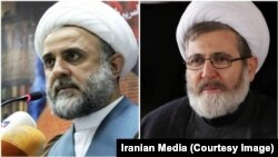 نبیل قاووق (چپ) و حسن البغدادی، دو چهره ارشد حزبالله لبنان