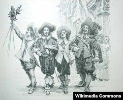 Muşketyorlar. Dümanın romanına çəkilmiş illüstrasiya, 1894