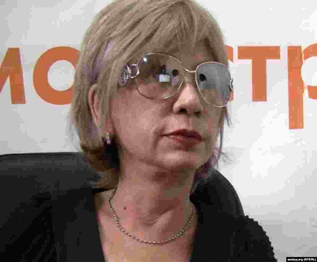 Гүлжан Ерғалиева, guljan.org сайтының құрылтайшысы. Алматы, 16 маусым 2011 жыл.