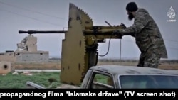 A screen grab from an Islamic State propaganda video purportedly showing extremists from the Balkans. Mirsad Kandic has been charged with recruiting many from the region for the extremist group. (file photo)