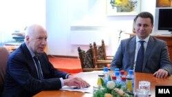 Средба на премиерот Никола Груевски со медијаторот Метју Нимиц.
