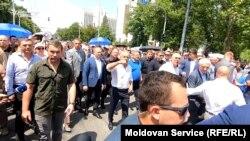 Lideri democraţi la protestul de duminică, 9 iunie