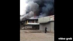 Пожар на Ошском рынке в Бишкеке. 30 января 2018 года.