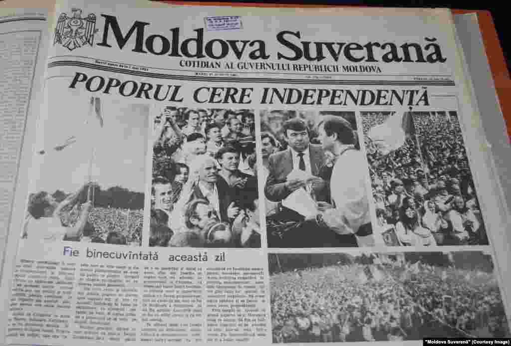"""Moldova Suverană"", 27 august 1991"