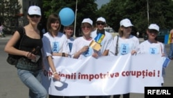Protest la Orhei împotriva corupției în martie 2009