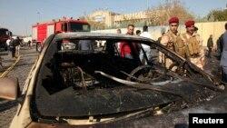 Pamje pas një sulmi të mëparshëm vetëvrasës në Irak