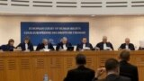 France - Hearing, the judges of the European Court of Human Rights (ECHR), Strasbourg, 28Nov2012