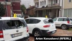 Veturat e dëmtuara të Agjencisë së Statistikave të Kosovës.