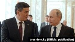 Сооронбай Жээнбеков жана Орусия президенти Владимир Путин. Минск. 30.11.2017