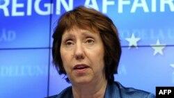 ЕО-ның сыртқы саясат жөніндегі өкілі Кэтрин Эштон. Брюссель, 14 мамыр 2012 жыл.