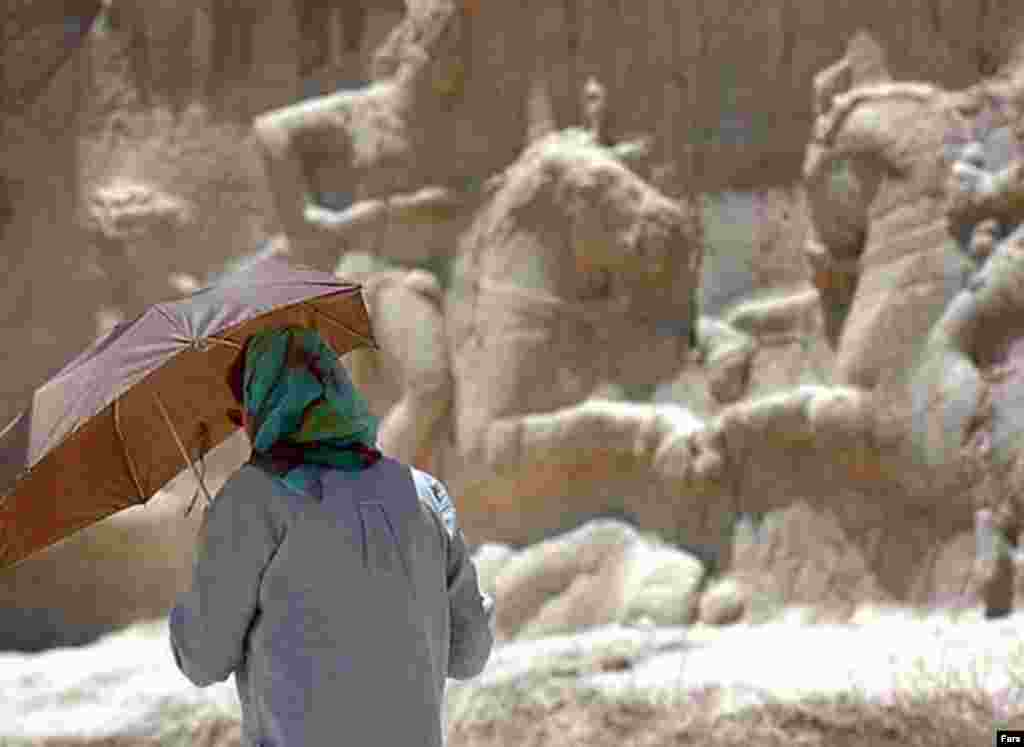 A tourist at Persepolis this summer (Fars) - Why is ancient Persian history now being accepted, even celebrated? Many Iranians are finding in their pre-Islamic past a new source of pride.