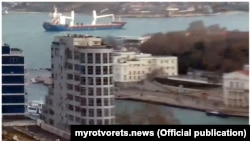 Судно LAODICEA на вході в Севастопольську бухту 31.01.2021