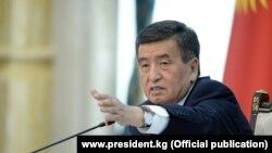 Қирғизистон президенти Сўўрўнбай Жээнбеков.