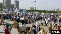 Қазақ хандығының 550 жылдығын тойлау шарасынан көрініс. Астана. 11 қыркүйек 2015 жыл.