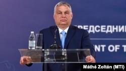 Orbán Viktor Belgrádban 2021. július 8-án