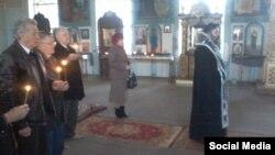 Літургія та заупокійна служба в пам'ять про Тараса Шевченка. Сімферополь, 9 березня 2015 року