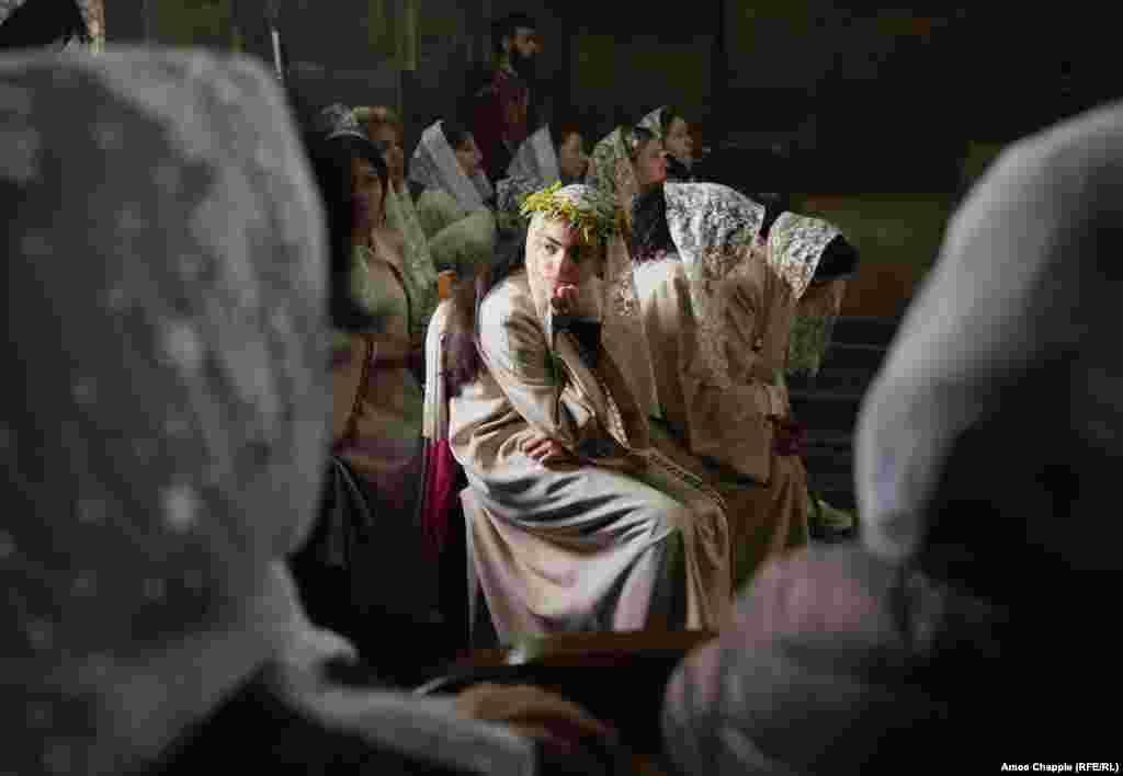 Набажэнства ў Эчміадзінскім катэдральным саборы, галоўным храме Армянскай апостальскай царквы.
