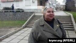 Лариса Китайська після засідання суду в Сімферополі, 15 березня 2018 року