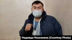 Дмитрий Баиров в комнате допросов ОВД, Улан-Удэ, 28 января