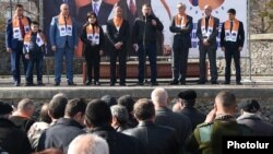 Armenia - The opposition ORO alliance holds an election campaign rally in Yerevan, 19Mar2017.