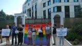 Protest în fața Ambasadei Rusiei la Chișinău