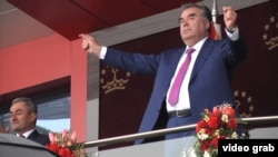 """The founder of peace and national unity of Tajikistan, the leader of the nation, President Emomali Rahmon."""