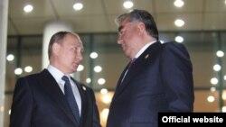 Эмомалӣ Раҳмон ва Владимир Путин