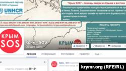 Страница общественной инициативы Крым SOS в Facebook