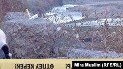 Бадам өзенінің жағасында болған қақтығыс орны. Шымкент, 30 қазан 2012 жыл.