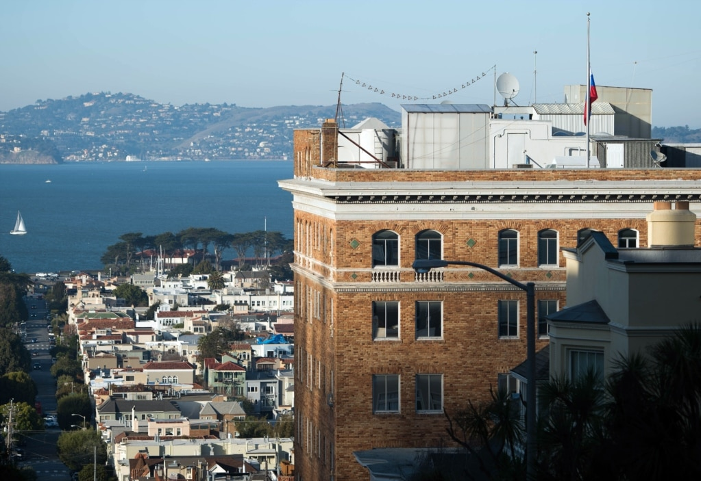 The Russian Consulate General building in San Francisco, California. (AFP)