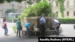 Жара в Баку (архивное фото)