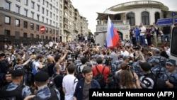 Astăzi la demonstrația de la Moscova