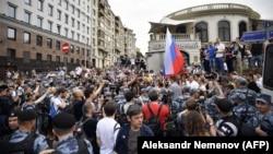 Протестът в Москва