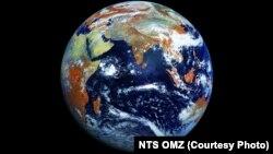 Ресейлік ауа райын болжағыш спутник арқылы түсірілген Жер суреті