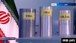 На кадре из сюжета иранской государственной вещательной компании IRIB модели центрифуг на обогатительном заводе в Натанзе. 17 июня 2019 года.
