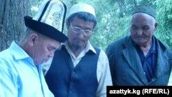 Тажикстандан көчүп келген кыргыздар.