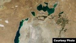 Аральское море в 2014 году.