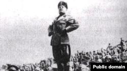 Италиянын диктатору Муссолини.