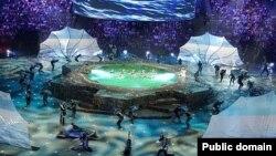 Чемпионатны ачу тантанасының репетициясе