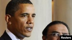 د امریکا ولسمشر بارک اوباما له خپل پاکستاني سیال اصف علي زرداري سره