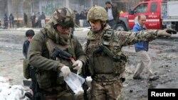 Ауғанстандағы НАТО әскері. Кабул, 27 ақпан 2013 жыл.