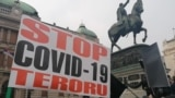 Belgrade Protesters Call For End Of Anti-COVID Measures, Vaccines, Immigration, Kosovo's Independence GRAB 1