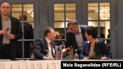 Лидеры грузинской оппозиции: Паата Давитая, Шалва Нателашвили, Давид Бакрадзе и Нино Бурджанадзе