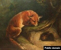 «Ліс чакае труса пад карчом». Невядомы мастак (ХІХ стагодзьдзе)