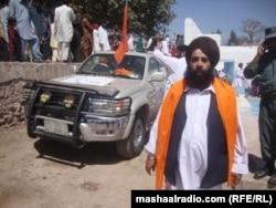 Дәстүрлі киім киген ауғандық сикх. Нингархар, 11 сәуір 2012 жыл.